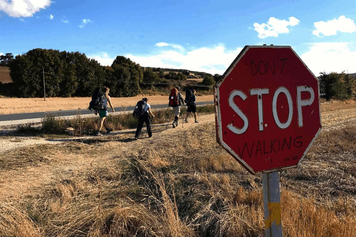 Billede fra Caminoen i 2016