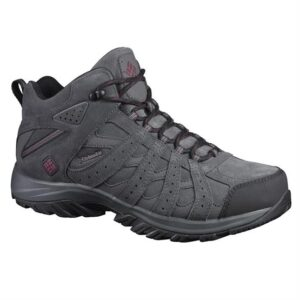 Columbia Canyon Point Mid Leather Omni-Tech Mens, Dark Grey