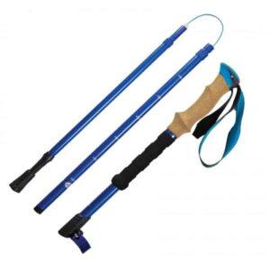 Trek vandrestav Highlander letvægts foldbar blå