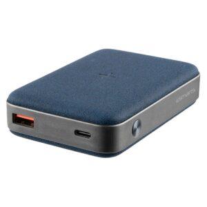 4smarts 10000 mAh USB-C PD, Quick charge og trådløs powerbank, Blå