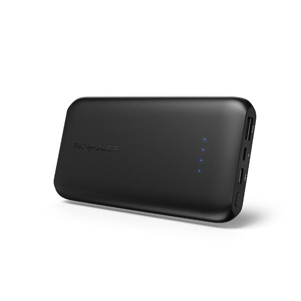 RAVPower Slim 10000 mAh, 15W USB-C Powerbank, Black