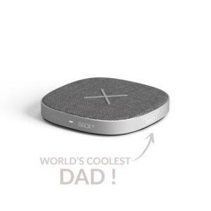 "SACKit CHARGEit ""World's coolest dad"" Powerbank - Grå -"